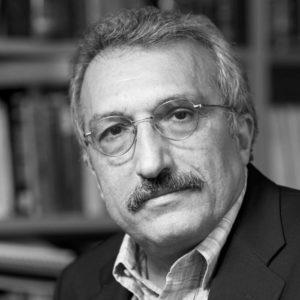 Abbas Milani in roqe with Jian Ghomeshi